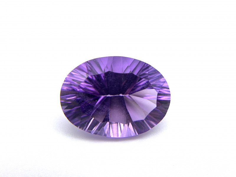 6.51 carats Natural Amethyst Purplish Blue Loose Gemstone  Concave cut