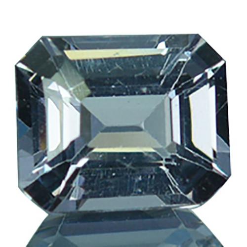 Natural Silver Grey Spinel 6x5mm Emerald Cut 0.88 Cts Sri Lanka