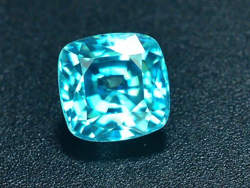 AAA Brilliance 1.60 ct Blue Zircon Cambodia ~ K