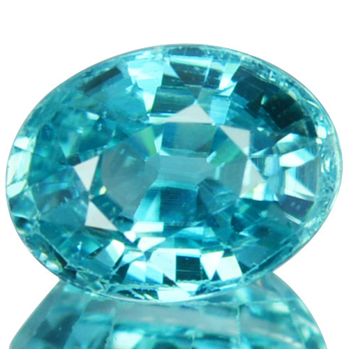 2.15 Cts Natural Sparkling Blue Zircon Oval Cut Cambodia