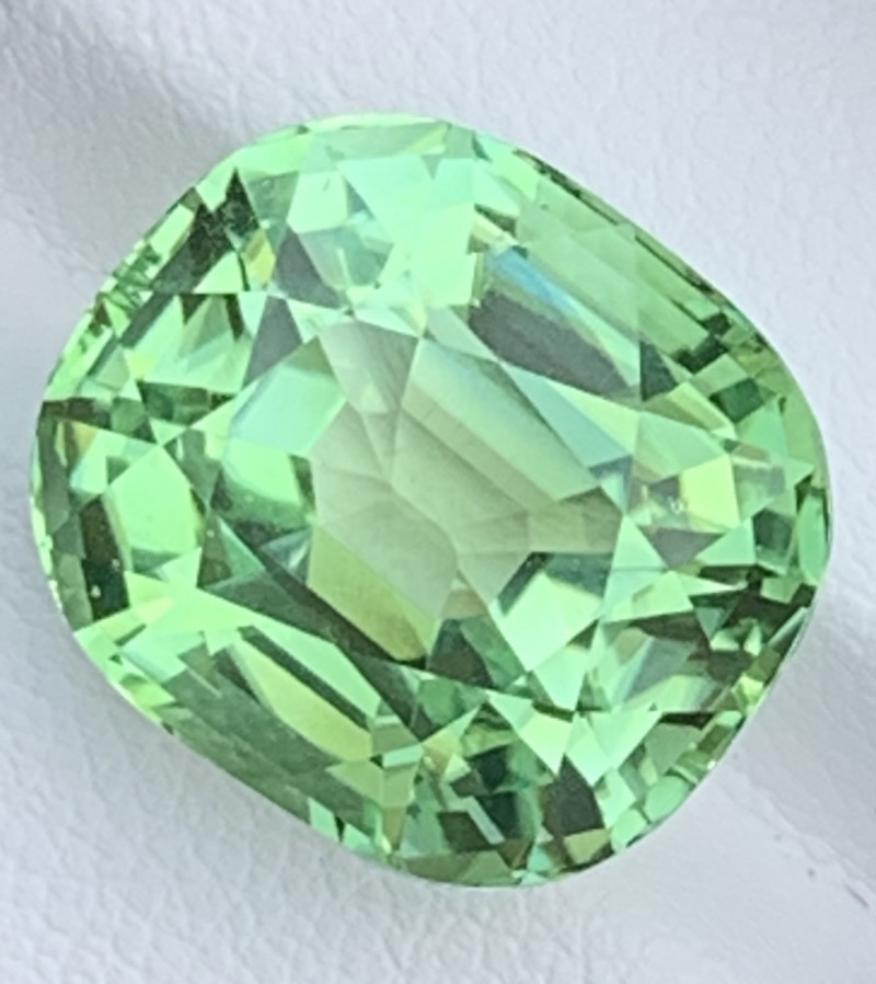 17.80 CT Tourmaline Gemstone Mint Apple green color top luster