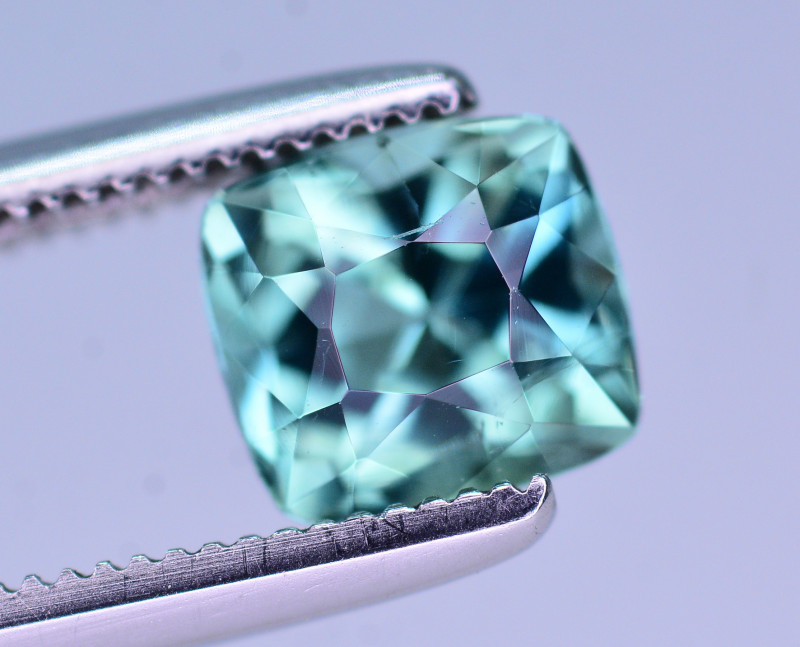 Gorgeous Color 0.90 Ct Lagoon Color Tourmaline From Afghanistan. ARA