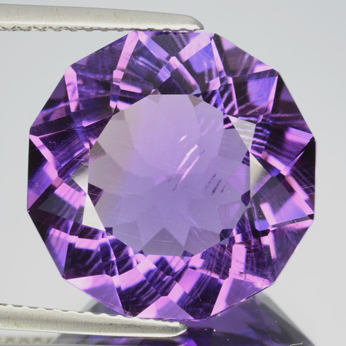 1162 Cts Gorgeous Natural Purple Amethyst Round Custom Cut