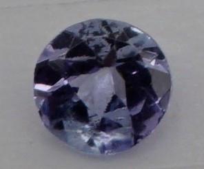 0.14 CT Round Cut Tanzanite 3.5 mm | Unheated