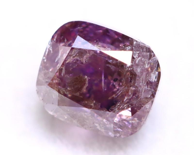 Purple Diamond 0.47Ct Natural Untreated Fancy Purple Color Diamond A0814