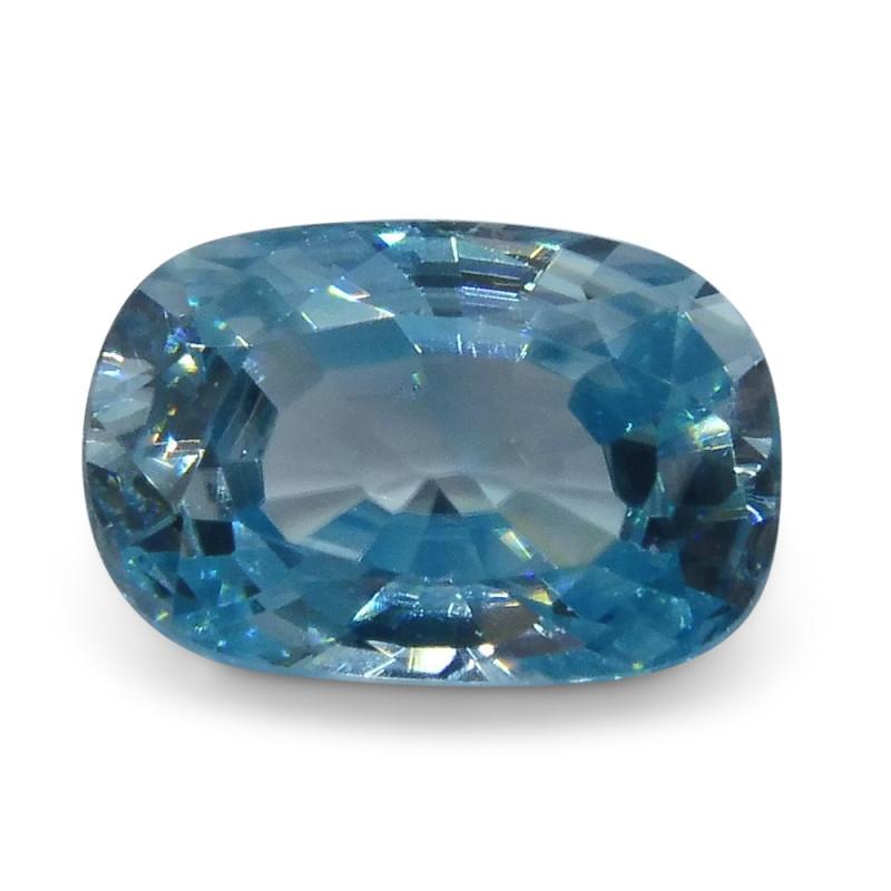 3.88 ct Oval Blue Zircon