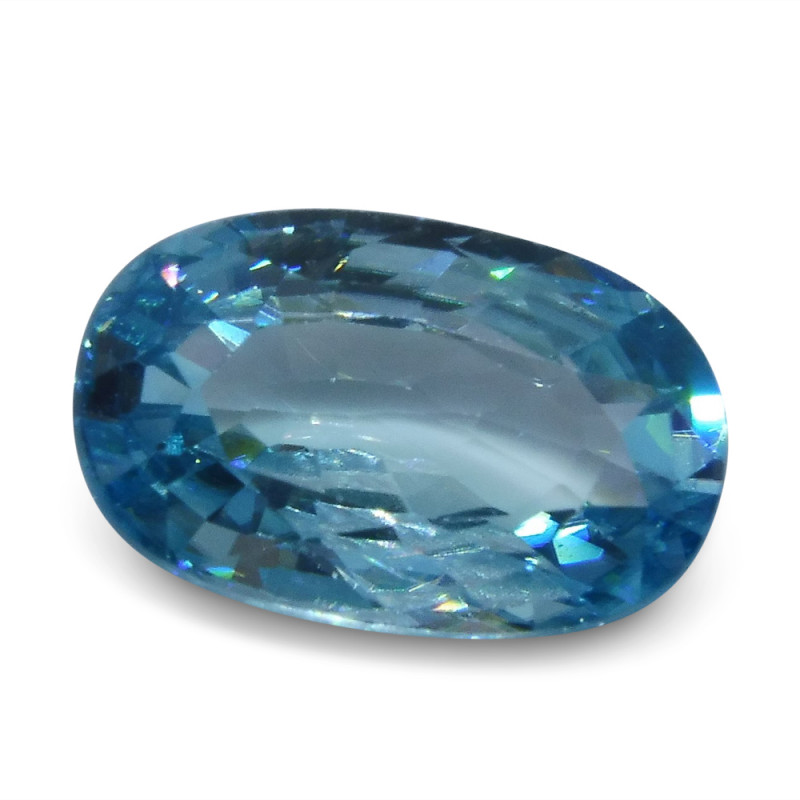 4.35 ct Oval Blue Zircon