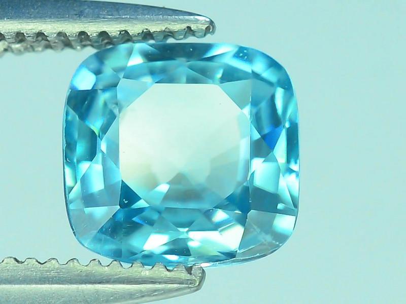 AAA Brilliance 1.35 ct Blue Zircon Cambodia ~ K