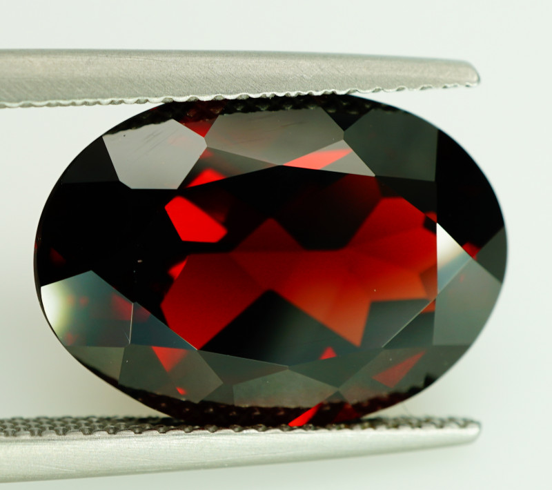 11.17  Ct. Natural Top Red Rhodolite Garnet Africa – IGE Certificate