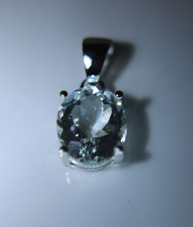 Herkimer Diamond Quartz 3.20ct Platinum Finish Solid 925 Sterling Silver Pe