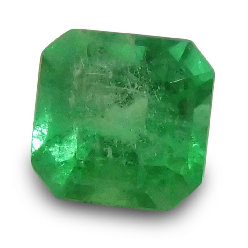 0.69 ct Square Cut Emerald