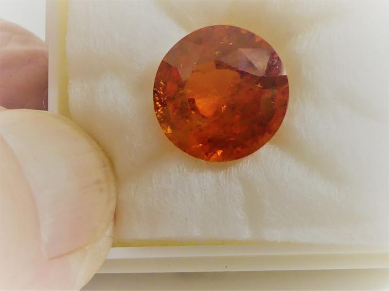 Mandarin Garnet Gemstone 10.86 ct Round Cut