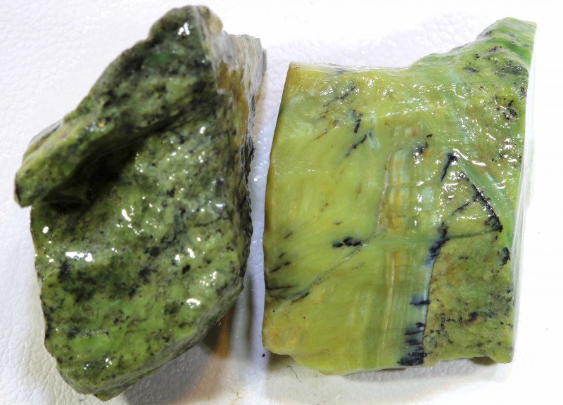 58 CTS GREEN SERAPHINITE  ROUGH PARCEL ADG-271