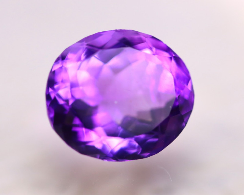 8.29ct Natural Purple Amethyst Oval Cut Lot V7787