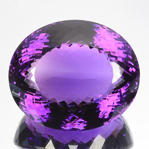 107.15 Cts Natural Purple Amethyst Oval Cut Bolivia