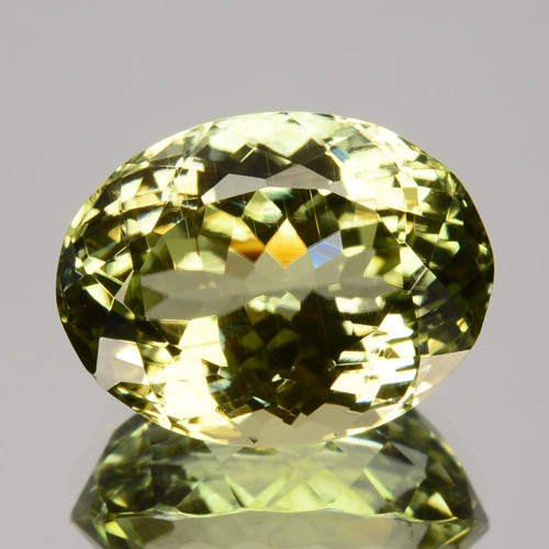 6.50 Cts  Natural Green Sillimanite Oval Cut Gem