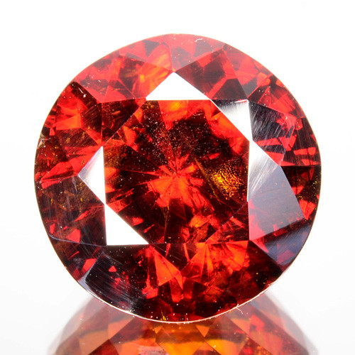 ~RAREST~ 8.20 Cts Natural Sphalerite Sparkling Red Round Cut Spain