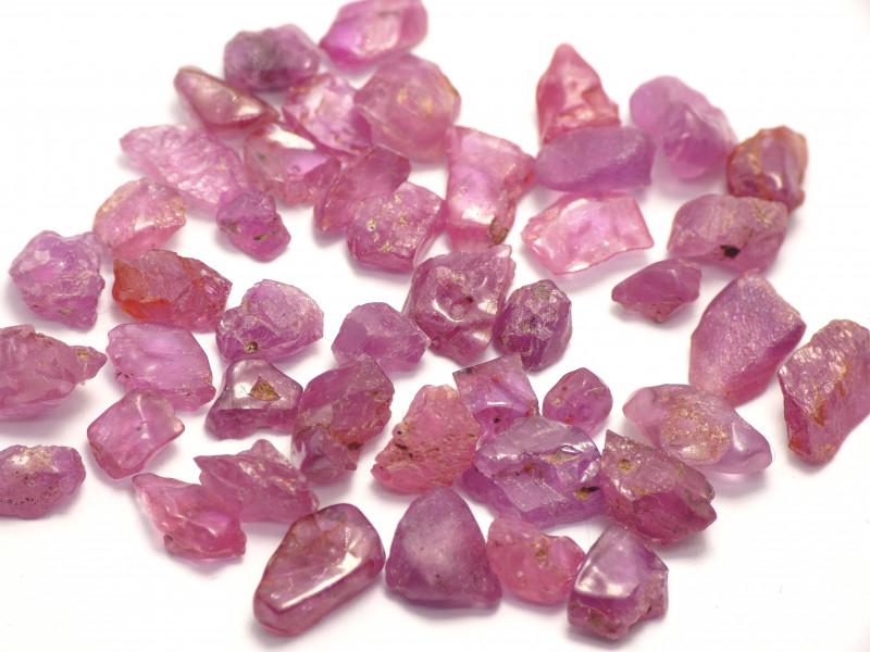 47Ct Natural Ruby Facet Rough Parcel