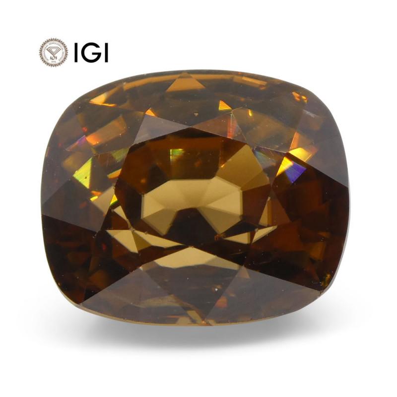 7.96 ct Cushion Orange Zircon IGI Certified
