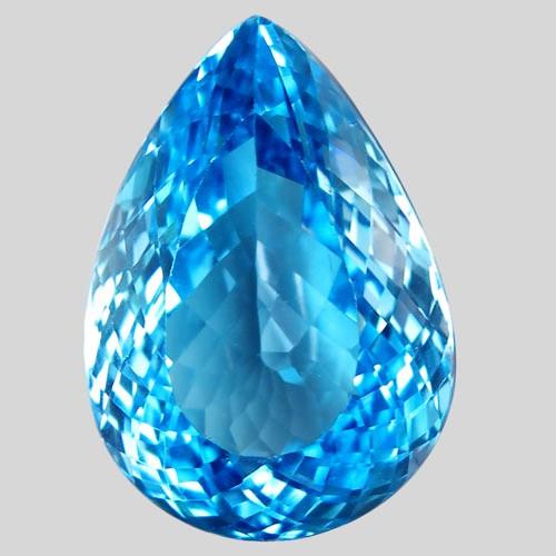 31.10 ct. Natural Swiss Blue Topaz Top Quality Gemstone Brazil