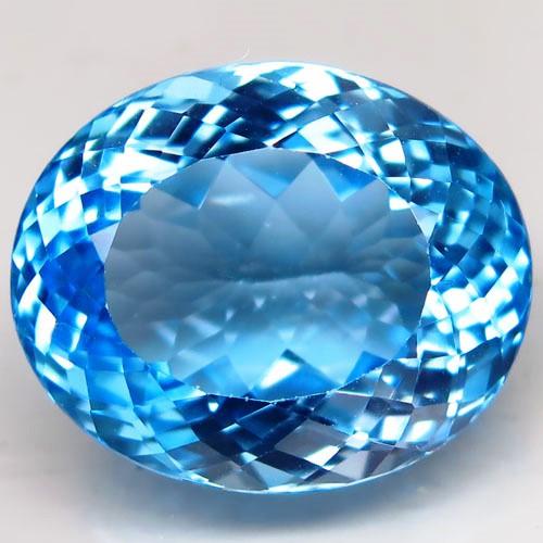 30.24 ct. Natural Swiss Blue Topaz Top Quality Gemstone Brazil