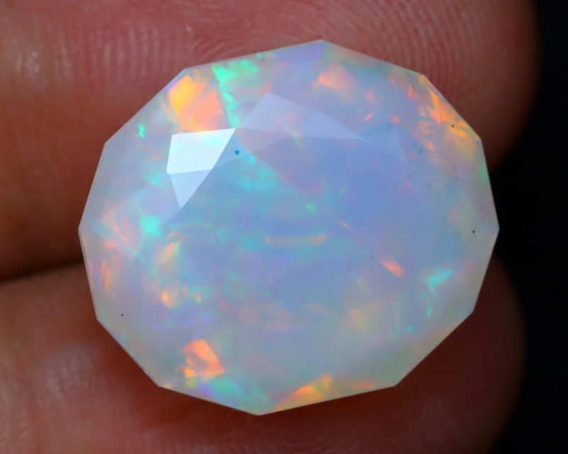 12.41Ct Master Cutting Natural Ethiopian Faceted Welo Opal AN103