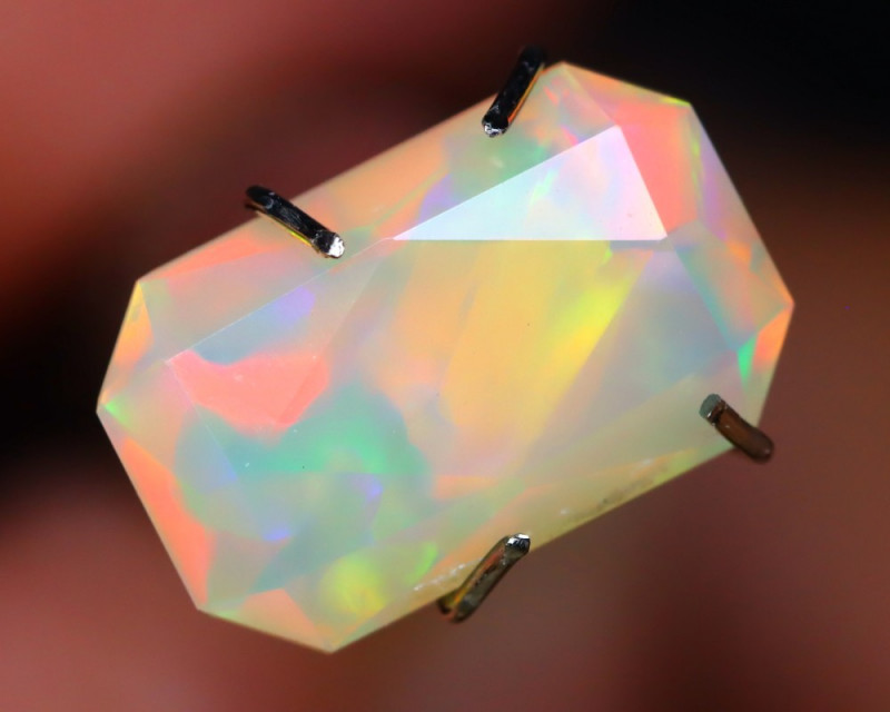 1.81Ct Master Cutting Natural Ethiopian Faceted Welo Opal AN133