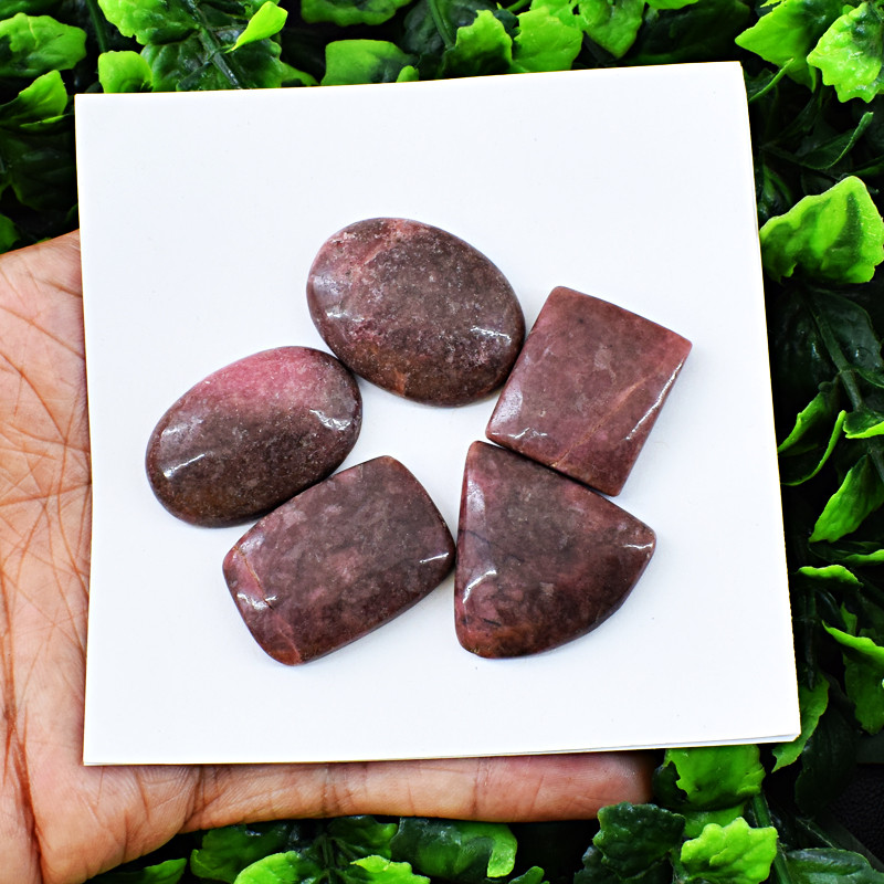 Genuine 243.00 cts    Rhodonite Cab Lot