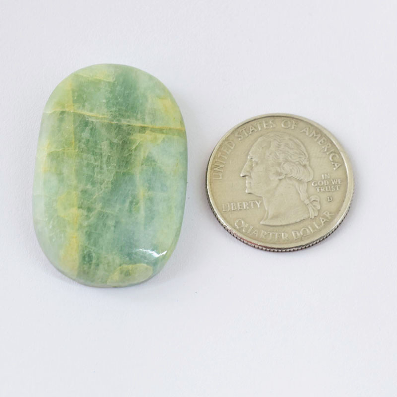 Genuine  53.00 Cts Amazonite Oval shape Cabochon