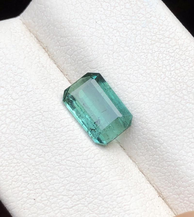 1.45 Ct Natural Green Transparent Tourmaline Gemstone