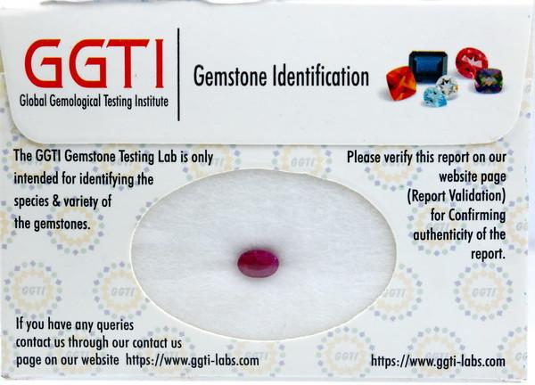 GGTI-Certified-1.20 ct Red Ruby Gemstone Natural