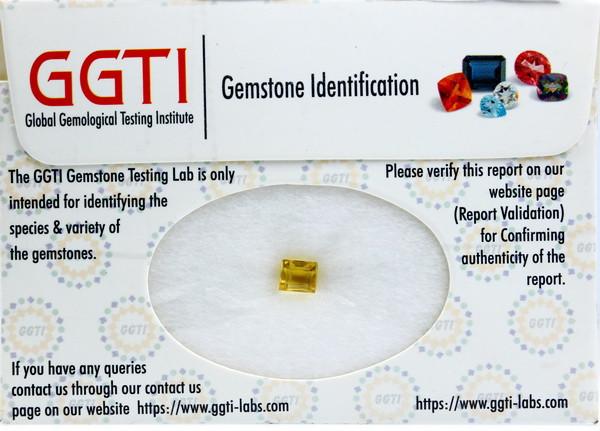 GGTI-Certified-0.85 Ct Yellow Heliodor Gemstone Natural