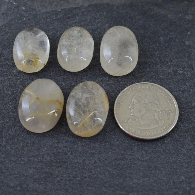 Genuine  100.00 cts Rutile quartz Cab Lot