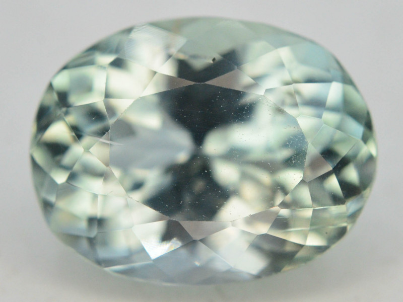 6.80 Ct Green Spodumene Gemstone From Afghanistan~ G AQ