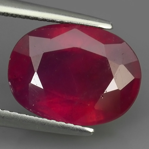 8.25 CTS AWESOME BEAUTIFUL RED RUBY SHAPE OVAL CUT GEMSTONE
