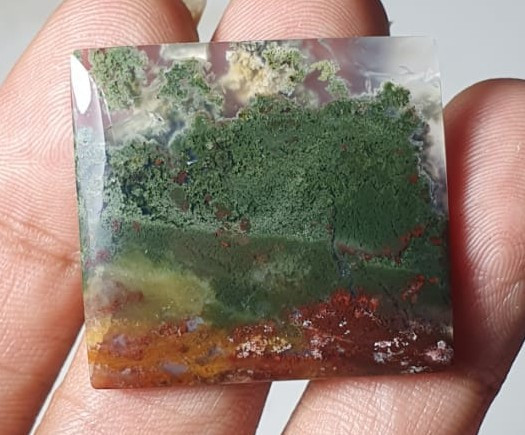 36.90 Crt Landscape Green Canyon Indonesia Agate