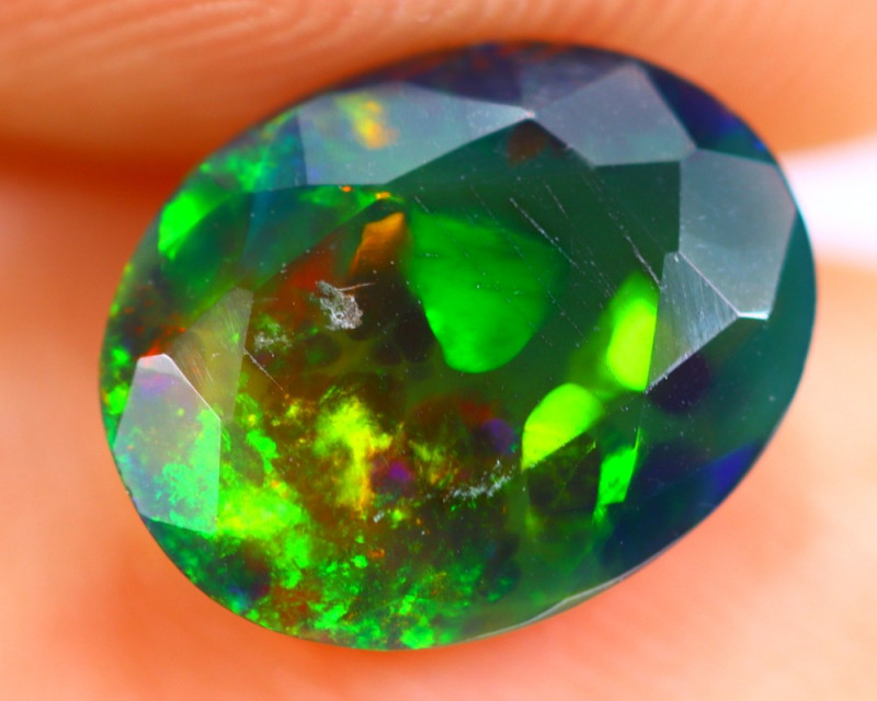 1.15cts Natural Ethiopian Smoked Faceted Black Opal / RD760