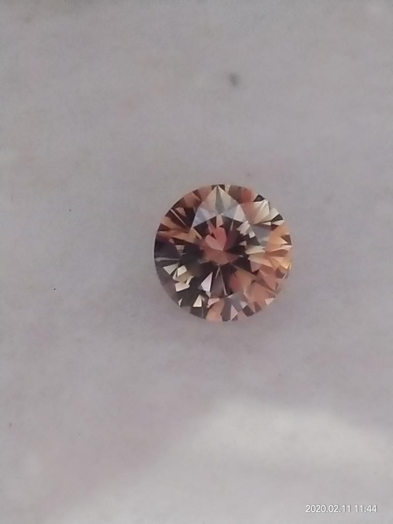 NATURAL -GIA CERTIFIED, FANCY DARK ORANGE-BROWN DIAMOND,0.63CARAT