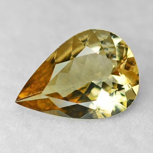 1.58 Cts Unheated Yellow Color Natural Tanzanite Gemstone