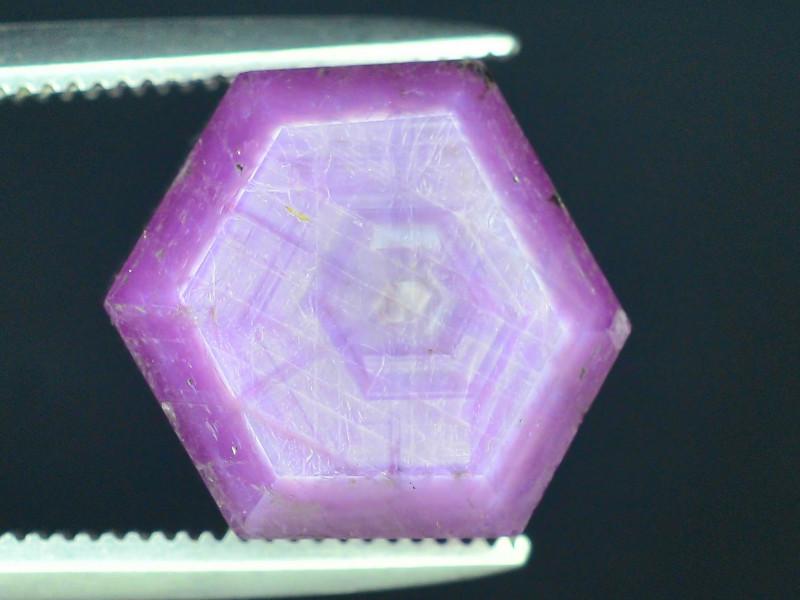 Rarest 8.0 ct Pink Kashmir Sapphire Trapiche Slice