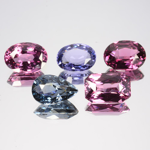7.95 Cts Natural Beautiful Spinel Blue & Pink 5Pcs Faceted Sri Lanka