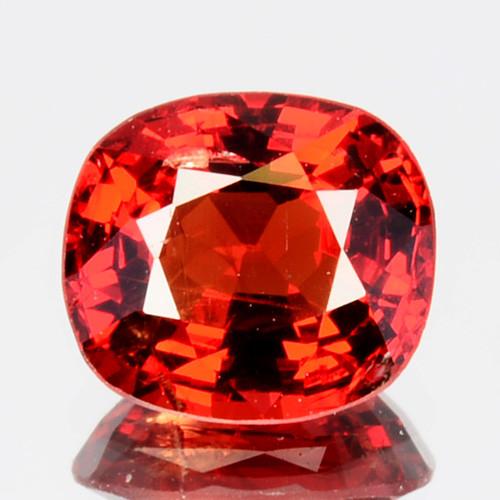 ~BEAUTIFUL~ 1.00 Cts Natural Vivid Red Spinel Cushion Cut Burmese