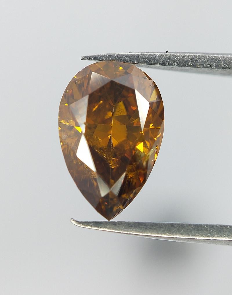 Natural diamond , Rare Pear Brilliant Cut Diamond , 0.56 cts