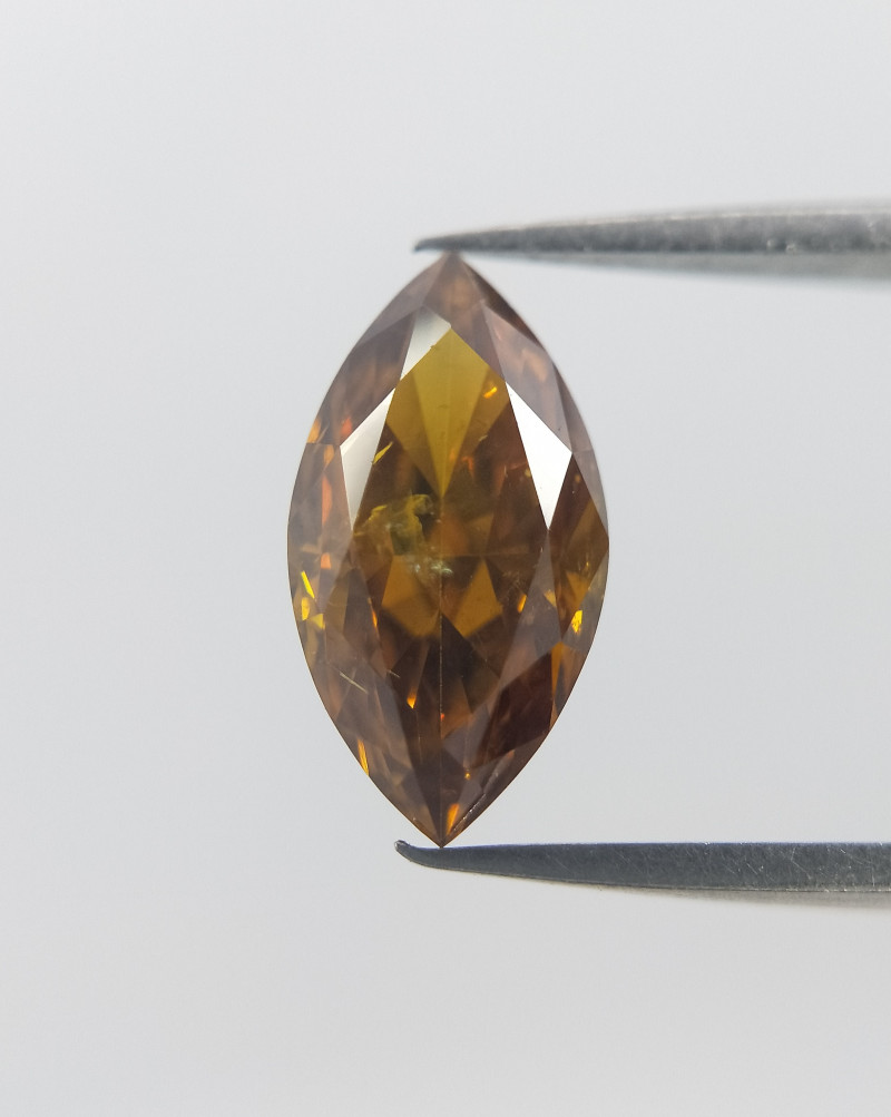Marquise Shaped Diamond  , Dark fancy Color , 0.56 cts
