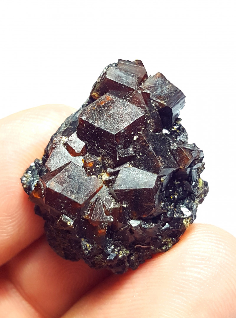 Amazing Natural Damage free Garnet cluster have good luster 73 Cts-A