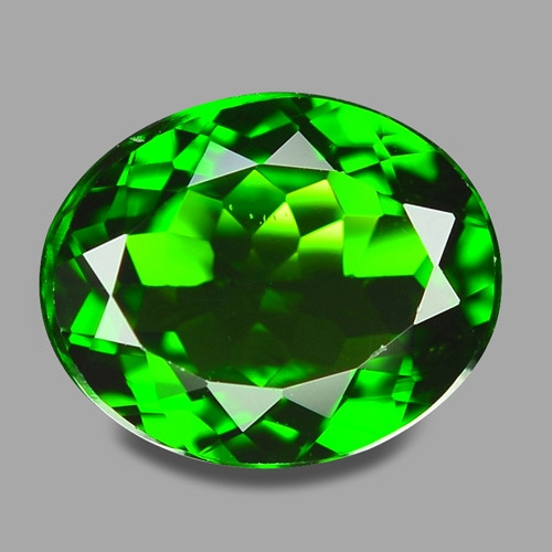 2.68 Cts Natural Green Color Chrome Diopside Loose Gemstone