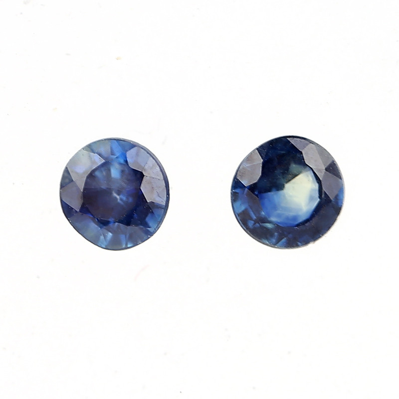 0.9 cts The Super Excellent Quality Sapphire Loose Pair Gemstone Round Cut,