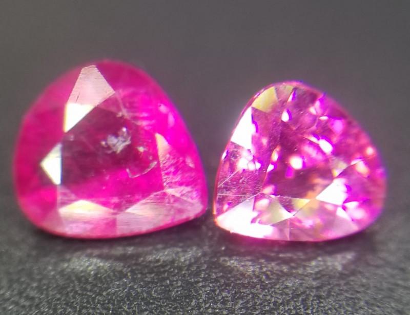 Tourmaline pair, 0.95ct, pretty colour !