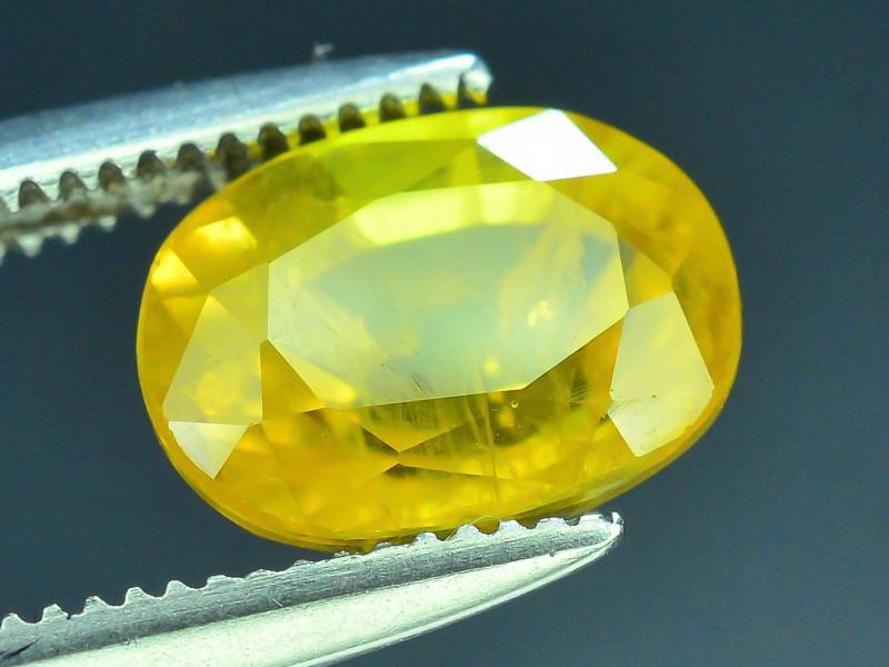 Top Clarity & Color 2.05 ct Rarest Yellow Sapphire~Sri Lanka