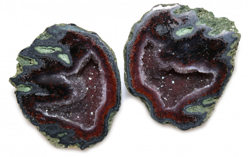 35.15 CTS GEODE PAIR ZACATECAS MEXICO-POLISHED  [MGW5530]
